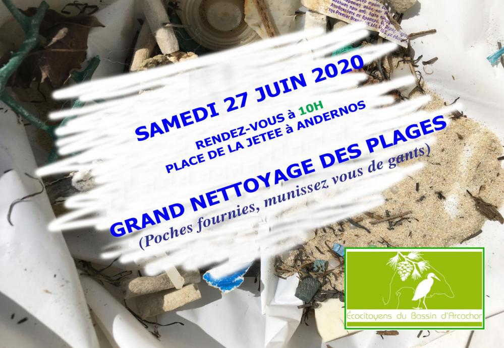 Flyer nettoyage plage andernos